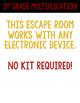 Digital Escape Room Cracking the Classroom Code® 3rd Grade Thanksgiving