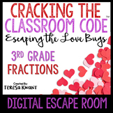 Digital Escape Room Cracking the Classroom Code® 3rd Grade Valentine's Day Math