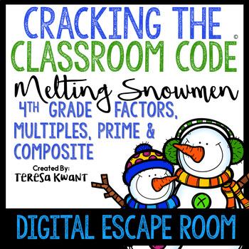 Digital Escape Room 4th Grade Multiples, Prime and Composite