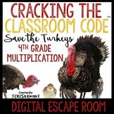 Digital Escape Room Cracking the Classroom Code® 4th Grade Thanksgiving
