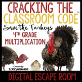 Digital Escape Room Cracking the Classroom Code® 4th Grade Thanksgiving