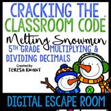 Digital Escape Room Cracking the Classroom Code® 5th Grade Christmas Math