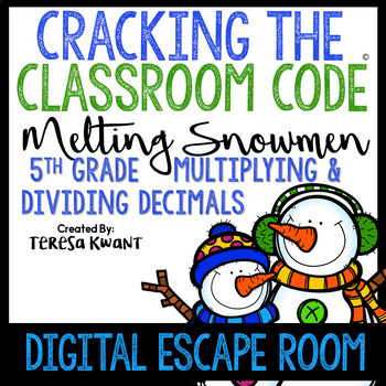 Digital Escape Room Cracking the Classroom Code® 5th Grade Christmas Math