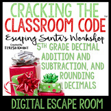 Digital Escape Room 5th Grade Christmas Math Distance Learning