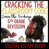 Digital Escape Room 5th Grade Division Thanksgiving Distance Learning