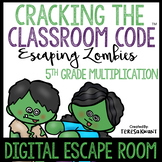 Digital Escape Room Cracking the Classroom Code® 5th Grade Math Multiplication