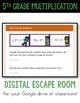 Digital Escape Room Cracking the Classroom Code® 5th Grade Math Multiplication