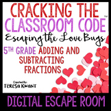 Digital Escape Room Cracking the Classroom Code® 5th Grade Valentine's Day Math