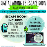 Digital Escape Room: End of Year Reading Review & STAAR/Test Prep Among Us Theme