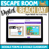 Digital Escape Room End of the Year Beach Day | Distance L