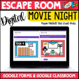 Digital Escape Room End of the Year Movie Day   Distance Learning Google Forms