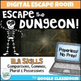 Distance Learning: ELA Grammar Digital Escape Room - Escape the Dungeon!