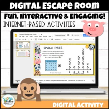 Digital Escape Room: Escape the Emojis! Math Breakout Activity