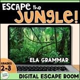 ELA Grammar Digital Escape Room - Escape the Jungle! Dista