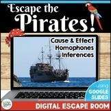 ELA Reading Digital Escape Room - Escape the Pirates!   Distance Learning