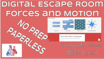 Digital Escape Room: Forces and Motion