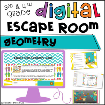 Digital Escape Room: Geometry Math Activities Distance ...