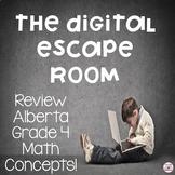 Digital Escape Room Grade 4 Alberta Math Review