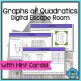 Graphs of Quadratics Digital Escape Room Activity with Hint Cards