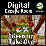 Digital Escape Room - Gremlins Take Over ( A Great Back to School Escape Room)