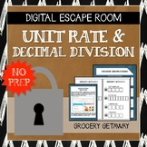 Digital Escape Room: Grocery Getaway (Decimal Division & Unit Rate)