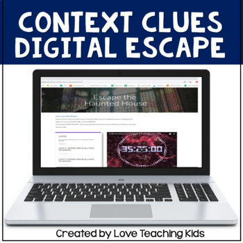 Digital Escape Room Haunted House- Vocabulary Review Digital Breakout