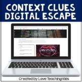 Digital Escape Room Haunted House- Vocabulary Review Digit