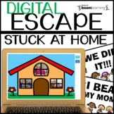 Digital Escape Room I'M STUCK AT HOME | Math and ELA | Dis