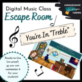 Digital Escape Room (MUSIC) | Ready-to-Play & Customizable Template
