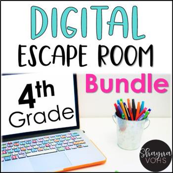 Digital Escape Room Math Bundle | 4th Grade