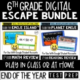 Digital Escape Room Math and Reading Review End of Year |