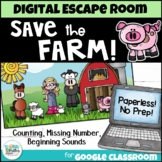 Distance Learning: Math and ELA Digital Escape Room - Save the Farm!