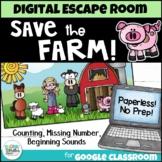 Math and ELA Digital Escape Room - Save the Farm! Distance