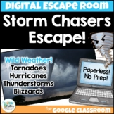 Digital Escape Room: Storm Chasers Escape! Weather Breakout Activity
