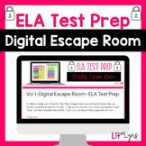 ELA TEST PREP- DIGITAL ESCAPE ROOM- VOL. 1