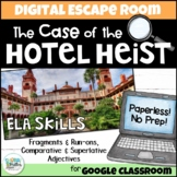 Digital Escape Room: The Case of the Hotel Heist! ELA Breakout Activity