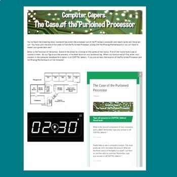 Digital Escape Room - The Case of the Purloined Processor