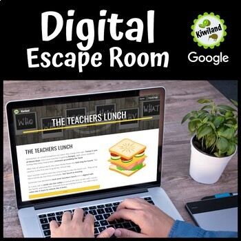 Digital Escape Room - The Teachers Lunch - A Back to School Activity