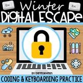 Digital Escape Room: Winter Keyboarding & Coding (Includes