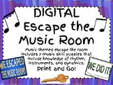 Digital Escape the Music Room!! 5-7 Music Puzzles to Escap