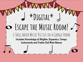 Digital Escape the Music Room: 6 Skill Based Music Puzzles