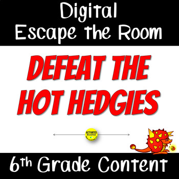 Digital Escape the Room for Back to School Math Review 6th - 7th Grade