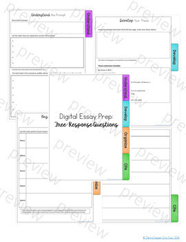 Free Response Question Writing Process Notebook