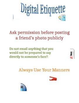 Digital Etiquette Poster
