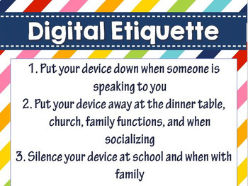 Digital Etiquette  Digital Etiquite