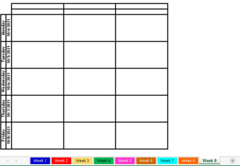 Digital Excel Google Sheets Lesson Plan Book Template