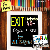 EXIT/ENTRANCE TICKETS DIGITAL FOR ANY SUBJECT
