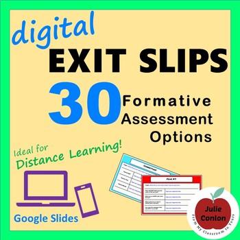 Digital Exit Slips: 30 Formative Assessment Options