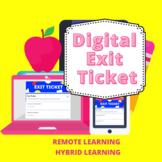 Digital Exit Ticket
