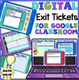 Digital Exit Tickets for Google Classroom